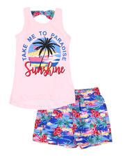 Sizes 7-20 - Big Kids - 2 Pc Take Me To Paradise Tank & Shorts Set (7-16)-2479695