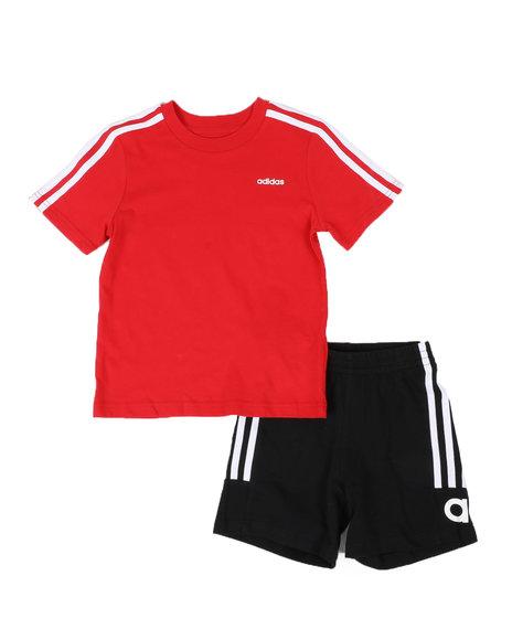 Adidas - 2 Pc Cotton Sport T-Shirt & Shorts Set (4-7)