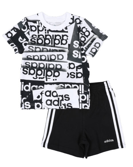 adidas 2 piece shorts set