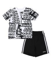 Adidas - 2 Pc Core Origami T-Shirt & Shorts Set (4-7)-2482169