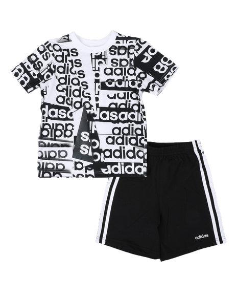 Adidas - 2 Pc Core Origami T-Shirt & Shorts Set (4-7)