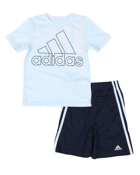 Adidas - 2 Pc Bos Graphic T-Shirt & Shorts Set (4-7)