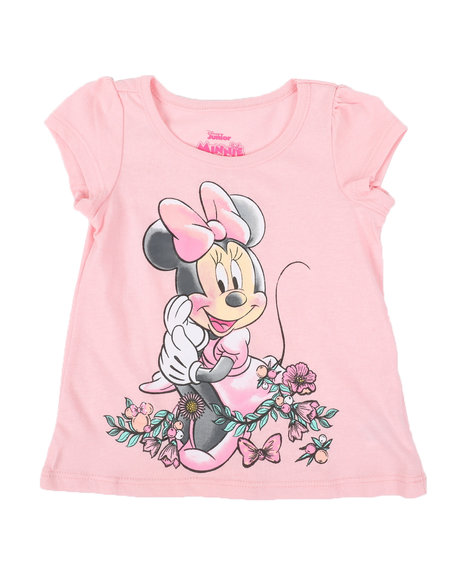 Disney - Minnie Flowers Tee (2T-4T)