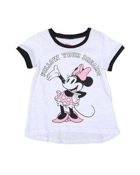 Disney - Minnie Follow Your Dreams Ringer Tee (2T-4T)