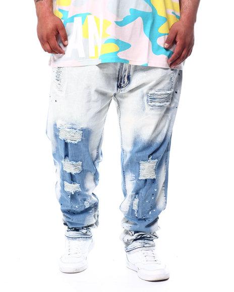 Makobi - Shredded Jeans With Paint Splatter (B&T)