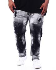 Makobi - Biker Jeans With Bleach Spotting (B&T)-2481011
