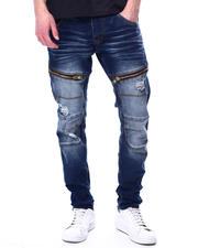 Jeans & Pants - DISTRESSED STRETCH JEAN W ZIPPER DETAIL-2481583