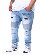 Big & Tall Faves - Cam Jean Patch Moto Jeans (B&T)-2481882