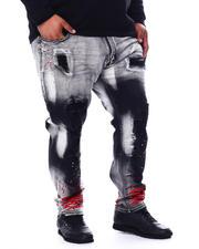 Makobi - Shredded Jeans With Paint Splatter (B&T)-2481993