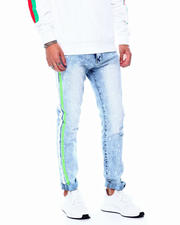 Buyers Picks - Snow Wash N.Green Stripe Jean-2483342