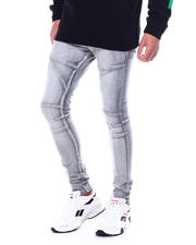 Stylist Picks - Super Skinny Grey Bleach Articulated Jean-2483356
