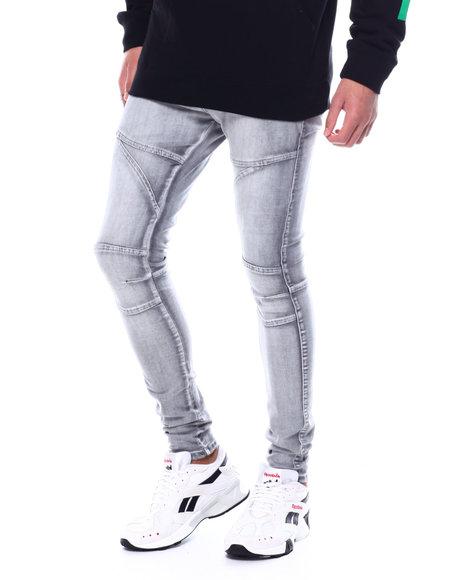 Buyers Picks - Super Skinny Grey Bleach Articulated Jean
