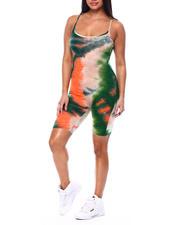 Jumpsuits - Tie Dye Spaghetti Strap Bermuda Catsuit-2482728