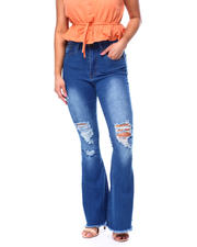 Red Fox - High Waist Ripped Flare Jean-2482771