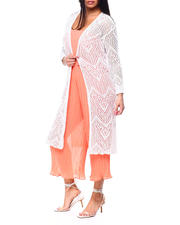 Spring-Summer-W - L/S Pointelle Duster w/Scallop Edge-2482817