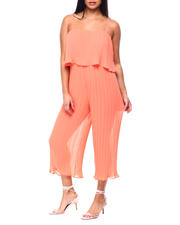 Women - Tiered Spaghetti Strap Crop Jumpsuit-2482832