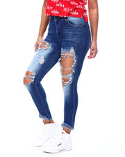 Women - High Rise Blow Out Ripped Skinny Jean-2477572