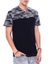 Buyers Picks - Camo V Colorblock Tee-2481224