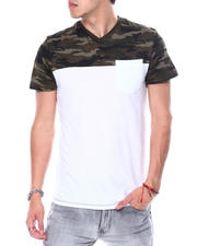 Buyers Picks - Camo V Colorblock Tee-2481264