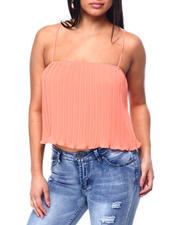 Fashion Tops - Crinkle Spaghetti Strap Top-2482836