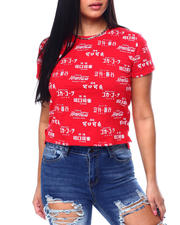 Graphix Gallery - Coca Cola Foreign Language S/S Skimmer Tee-2483086