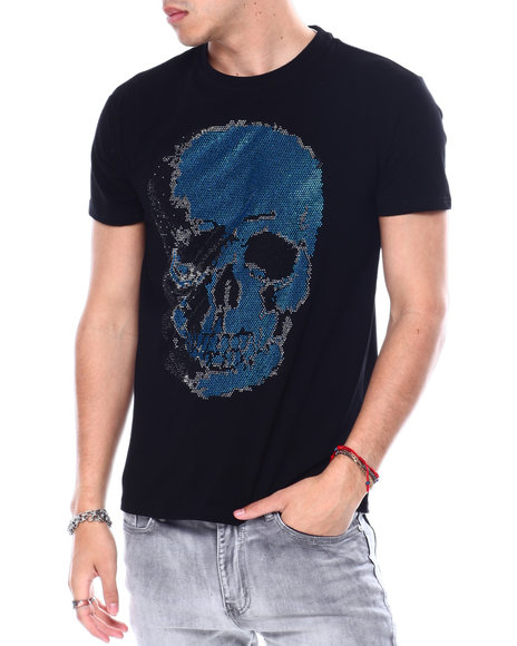 Buyers Picks - BLUE SKULL CRYSTAL TEE