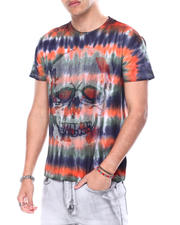 Buyers Picks - ORANGE TIE DYE SKULL CRYSTAL TEE-2483168
