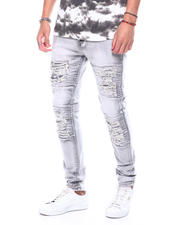 Stylist Picks - Grey Bleached Ripped Repair Jean-2483379