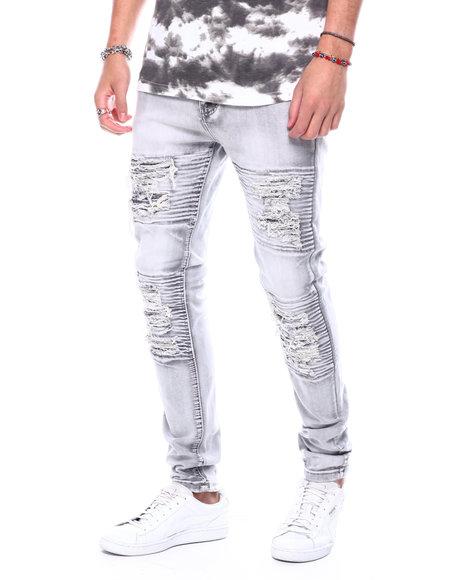Buyers Picks - Grey Bleached Ripped Repair Jean