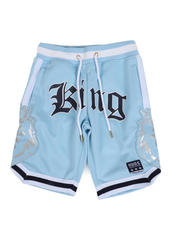 Boys - Poly Double Jersey Shorts W/Foil Print Patch (8-20)-2482427