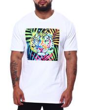 Big & Tall - Colorful Tiger Savage T-Shirt (B&T)-2485090