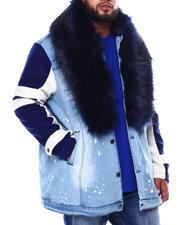 Outerwear - Camron Fur Collar Long Denim Jacket (B&T)-2477956