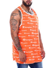 Champion - Ringer Tank Top W/All Over Script (B&T)-2480656
