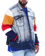 Denim Jackets - Wolfram Mix Media Denim Jacket (B&T)-2480731
