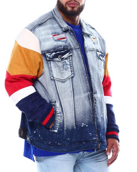 Makobi - Wolfram Mix Media Denim Jacket (B&T)
