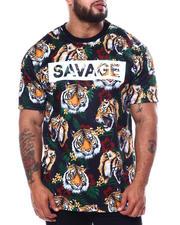 Big & Tall Faves - 3D Savage Tiger Print T-Shirt (B&T)-2485135