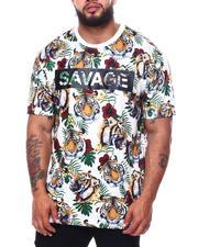 Big & Tall Faves - 3D Savage Tiger Print T-Shirt (B&T)-2485160