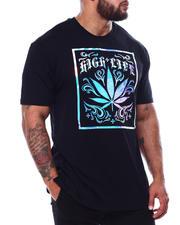 Big & Tall Faves - 3D Leaf High Life Iridescent T-Shirt (B&T)-2485185