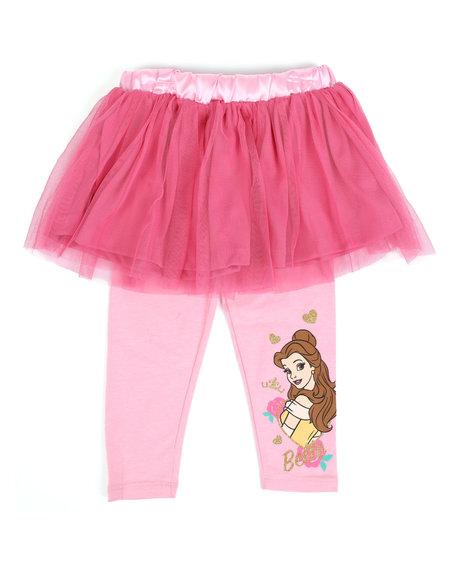 Disney - 2 Pc Princess Belle Tutu & Leggings Set (2T-4T)