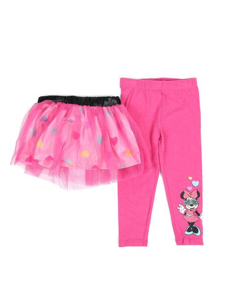 Disney - 2 Pc Minnie Heart Tutu & Leggings Set (2T-4T)