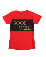 Arcade Styles - Good Vibes Foil T-Shirt(8-18)-2482400