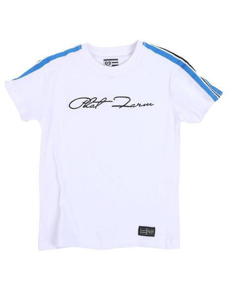 Phat Farm - Signature Crew Neck Tape Trim T-Shirt (4-7)