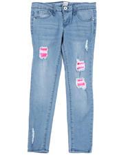 La Galleria - Rip & Repair Denim Jeans W/ Neon Lining (7-16)-2485680