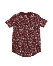 Phat Farm - Splash Print Scoop Bottom Tee (8-20)-2485575