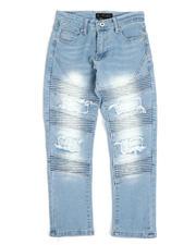 Arcade Styles - Stretch Moto Jeans W/ Rip & Tear Detail (8-18)-2485653