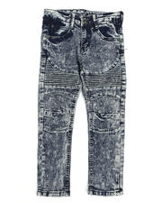 Sizes 4-7x - Kids - Washed Moto Jeans (4-7)-2485713