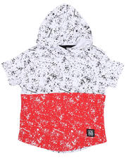 Phat Farm - Two Tone Splatter Print Hooded Tee (4-7)-2485536