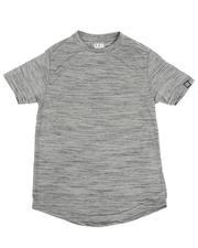 Boys - Melange Scoop Bottom T-Shirt (8-18)-2485718