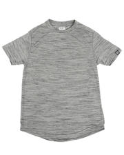 Tops - Melange Scoop Bottom T-Shirt (8-18)-2485718