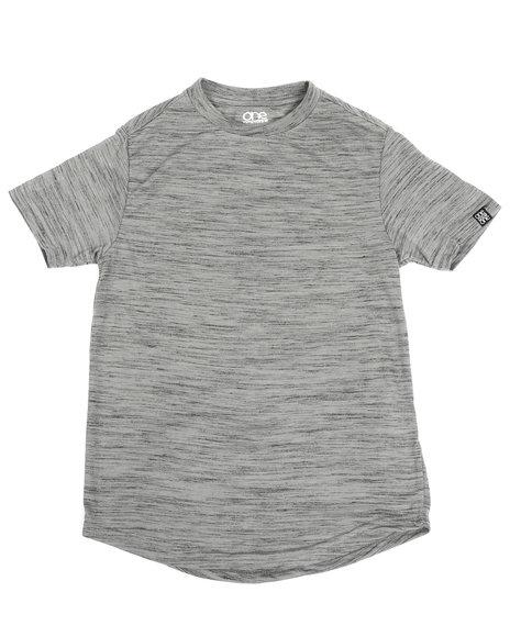 Arcade Styles - Melange Scoop Bottom T-Shirt (8-18)